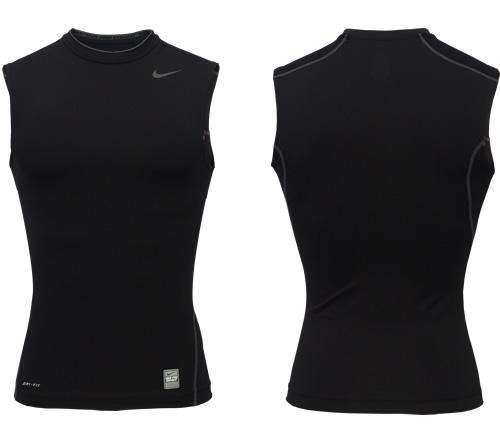 Camisa Nike Pro Core Sem Manga Ajustada Preta
