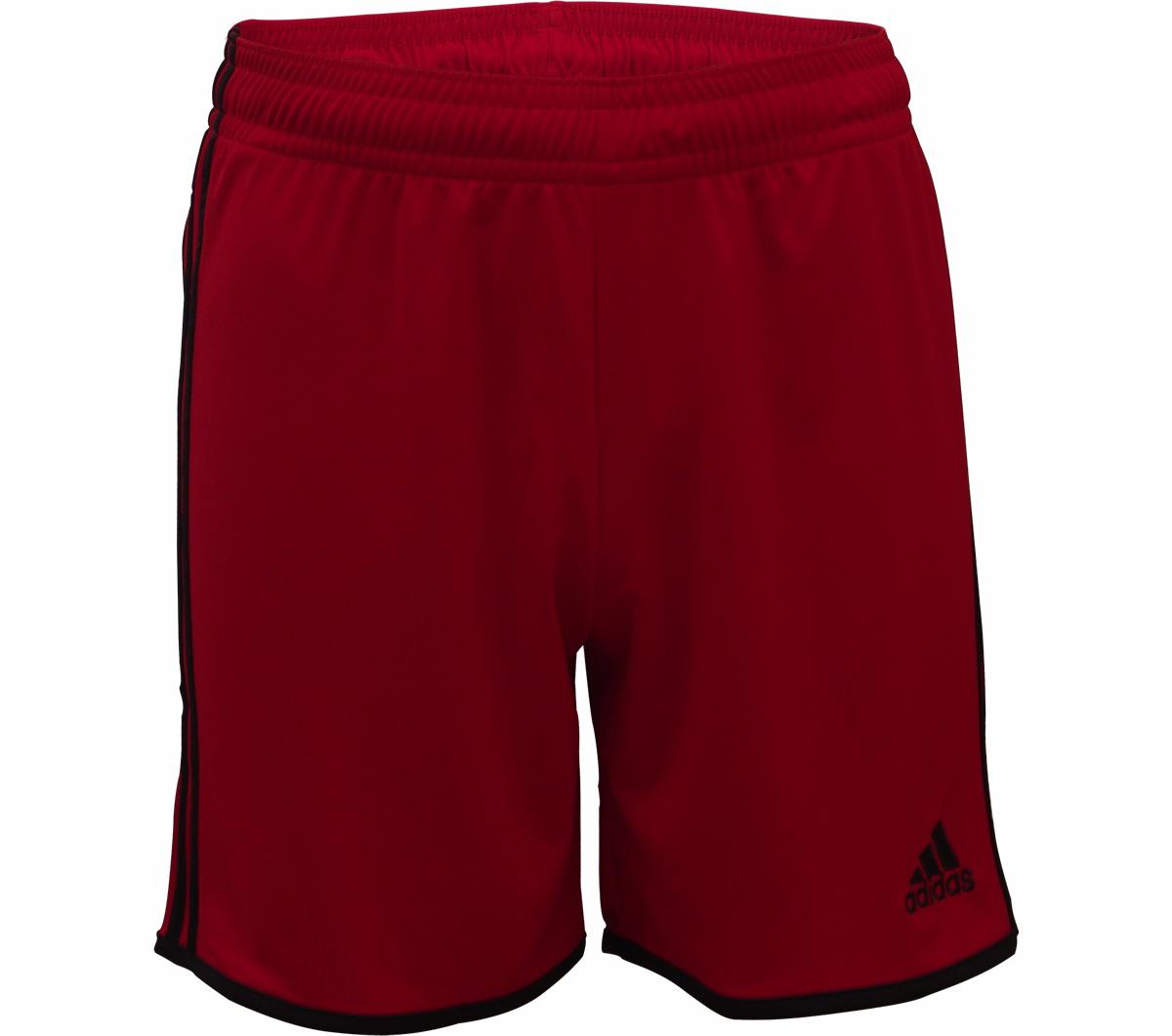 Calção Adidas Entrada 12 Vermelho e Preto - Mundo do Futebol d56b71ce0804e