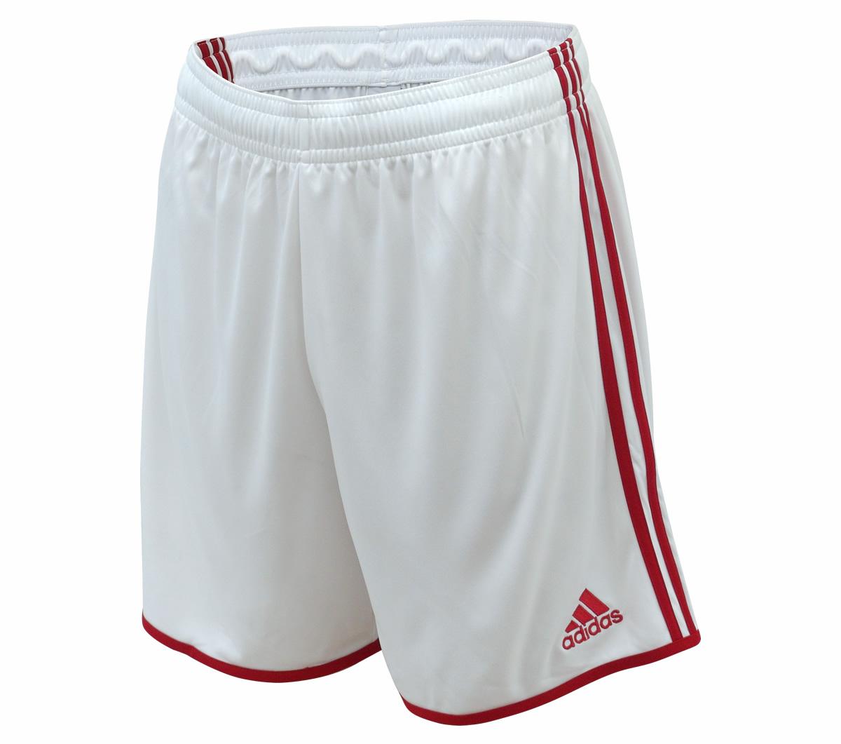 Calção Adidas Entrada 12 Branco e Vermelho - Mundo do Futebol 2a0cbb72474a9