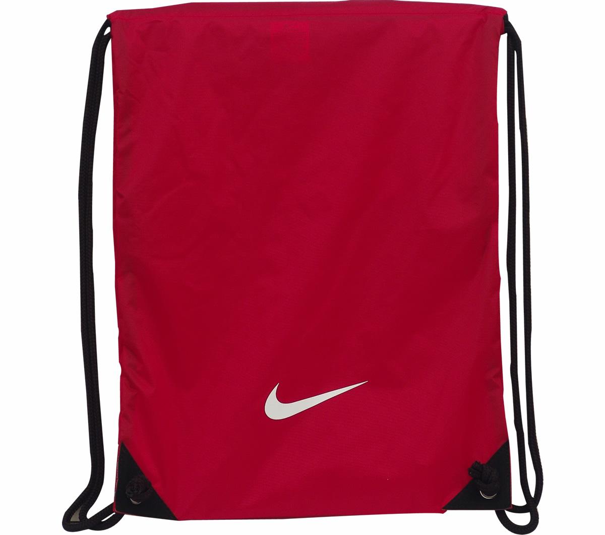 Bolsa Nike Vermelha Feminina : Bolsa gymsack nike fundamentals swoosh vermelha mundo do
