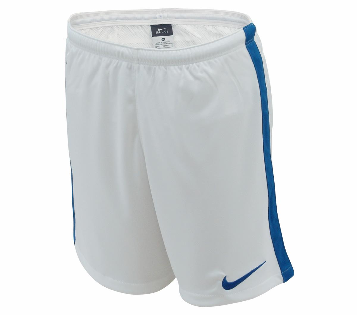 cc65feec0c210 ... Calção Nike DF Knit Infantil Branco e Azul ...