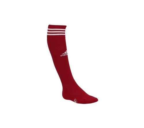 Meião Adidas 3 Listras Vermelho e Branco