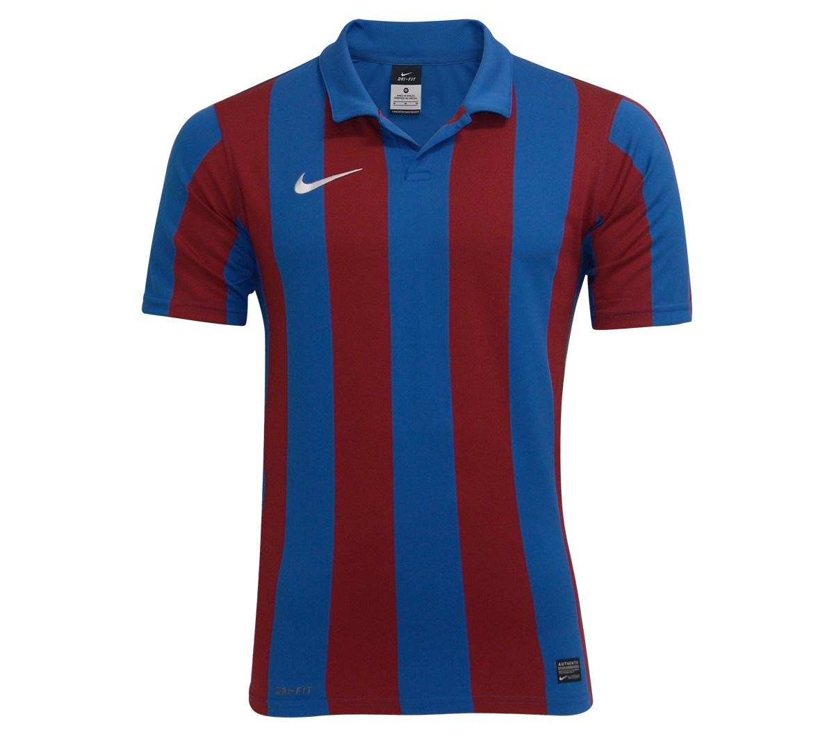 edcf01bdf7b84 Camisa Nike Inter III Stripe Azul e Vinho - Mundo do Futebol