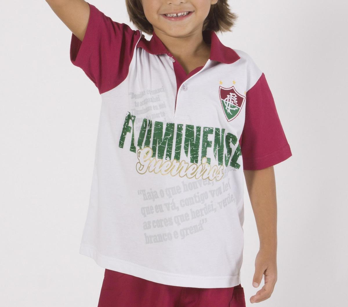 37b31cfccaebd Camisa Fluminense Polo Team Infantil Camisa Fluminense Polo Team Infantil