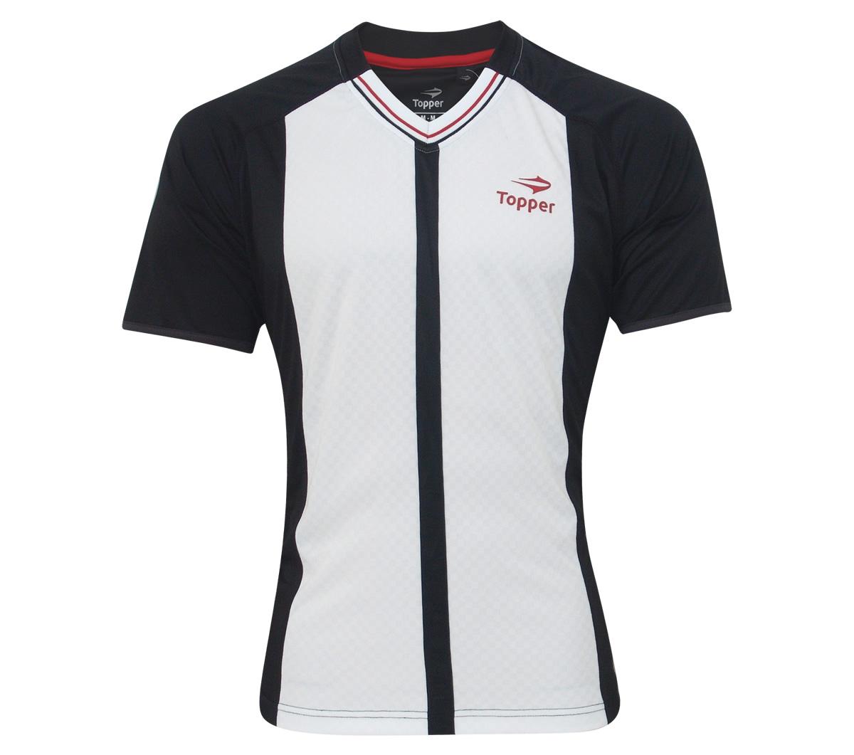 Camisa Topper Futebol Clássico Mito 75 Preta e Branca - Mundo do Futebol c1e39acb16edc