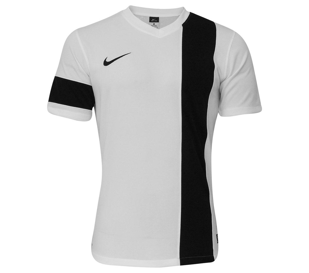 Camisa Nike SS Striker III Branca e Preta - Mundo do Futebol 5fe46eb020b28