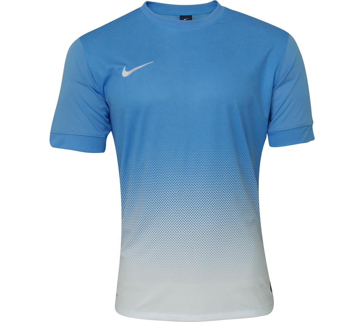 4716e11e76 Camisa Nike SS Striker III Celeste e Branca - Mundo do Futebol