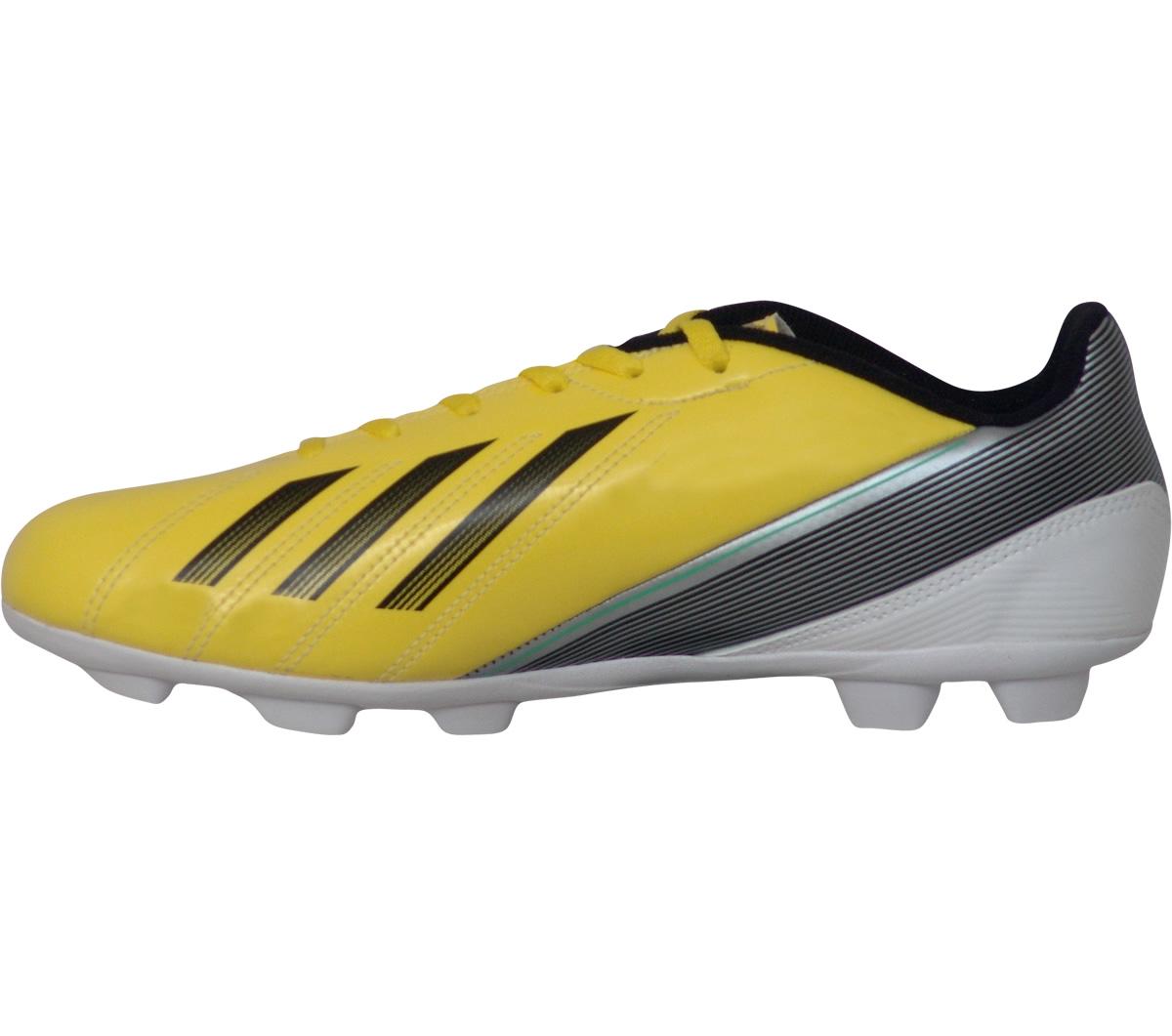 707173e4e5f6d Chuteira Adidas F5 TRX Campo Infantil Amarela e Preta - Mundo do Futebol