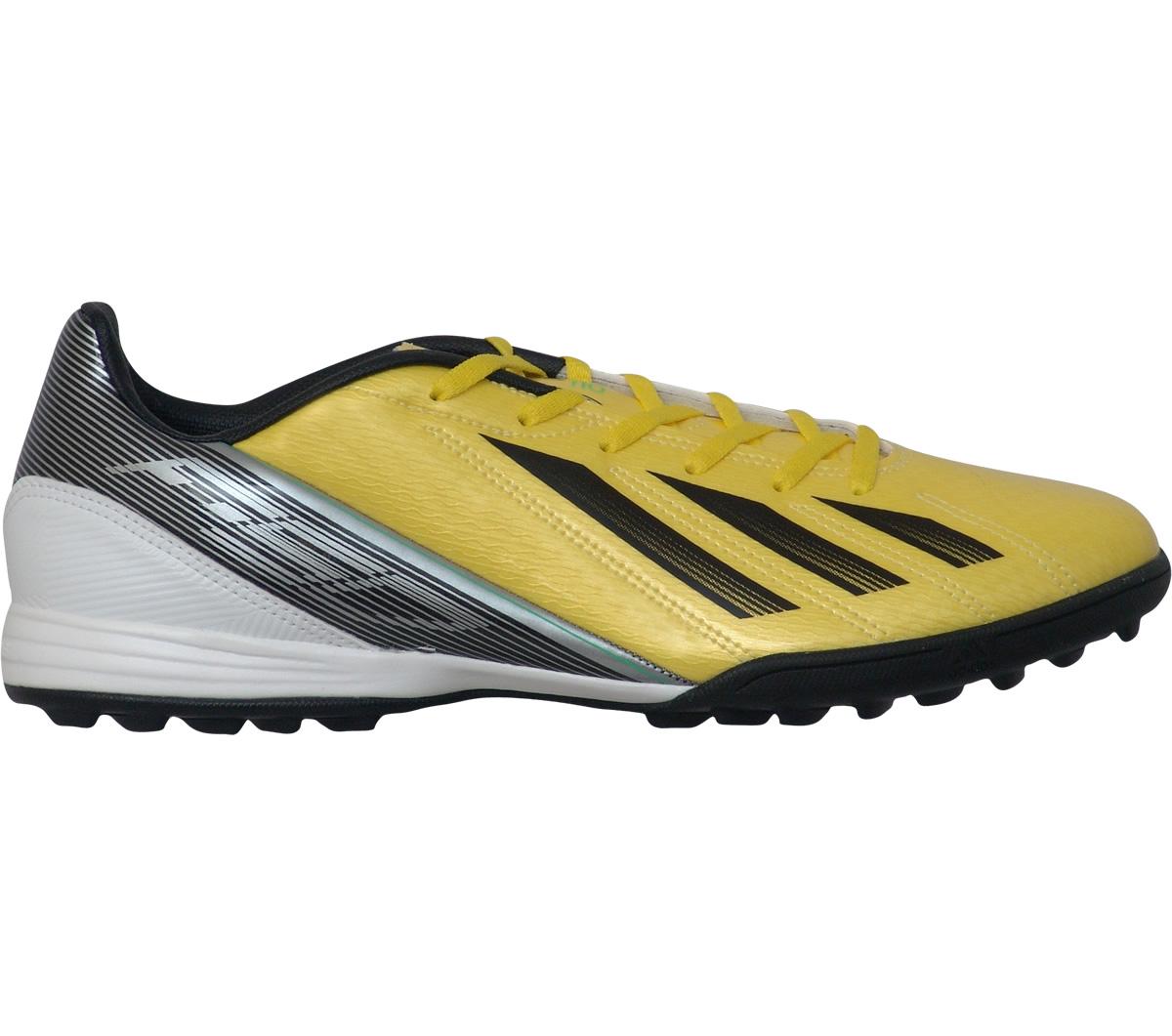 c86c0c56fce5d Chuteira Adidas F10 TRX Society Amarela e Preta - Mundo do Futebol