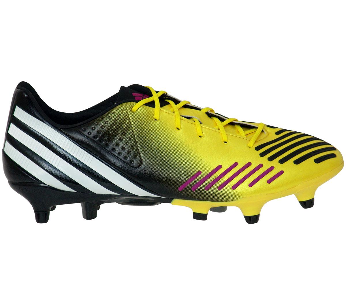 Chuteira Adidas Predator LZ XTRX SG Amarela e Preta - Mundo do Futebol 7b6fd7bb87c80