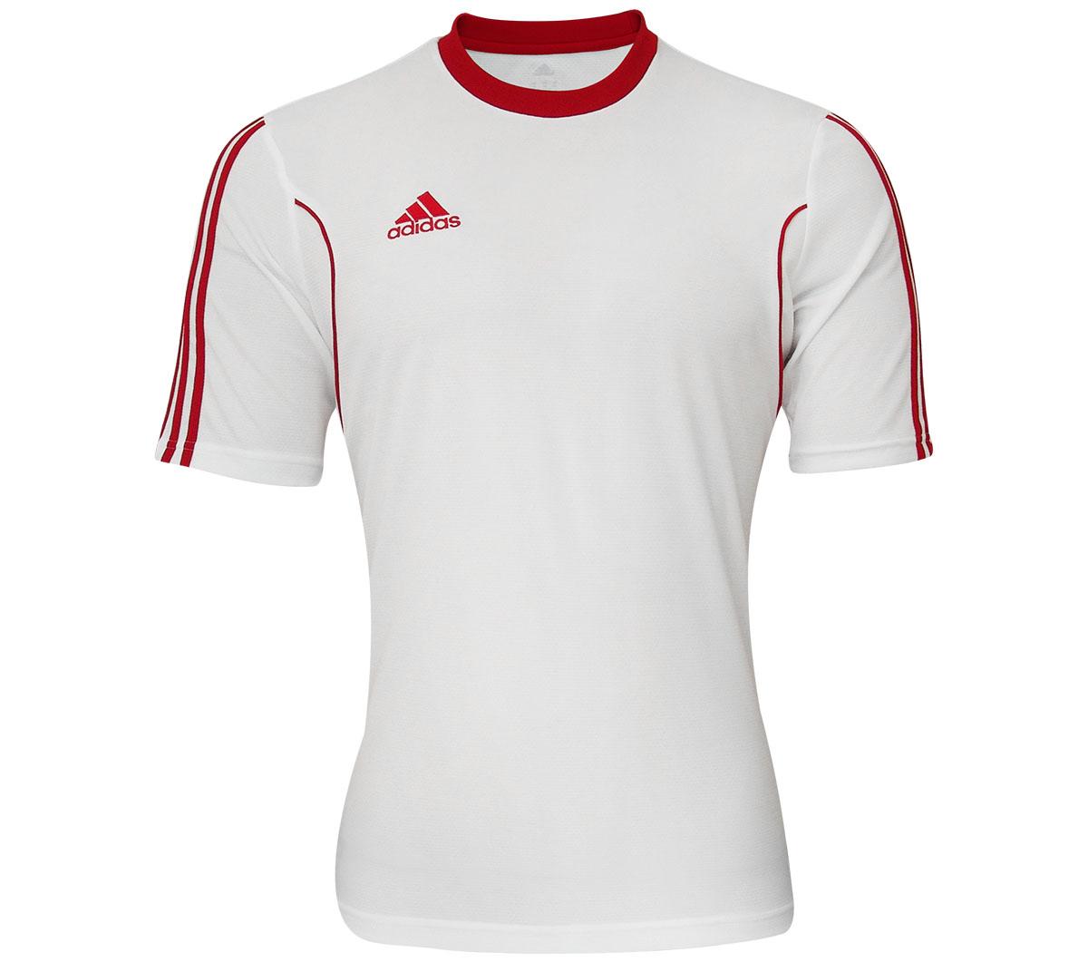306a2d790e Camisa Adidas Squadra 13 Branca e Vermelha - Mundo do Futebol
