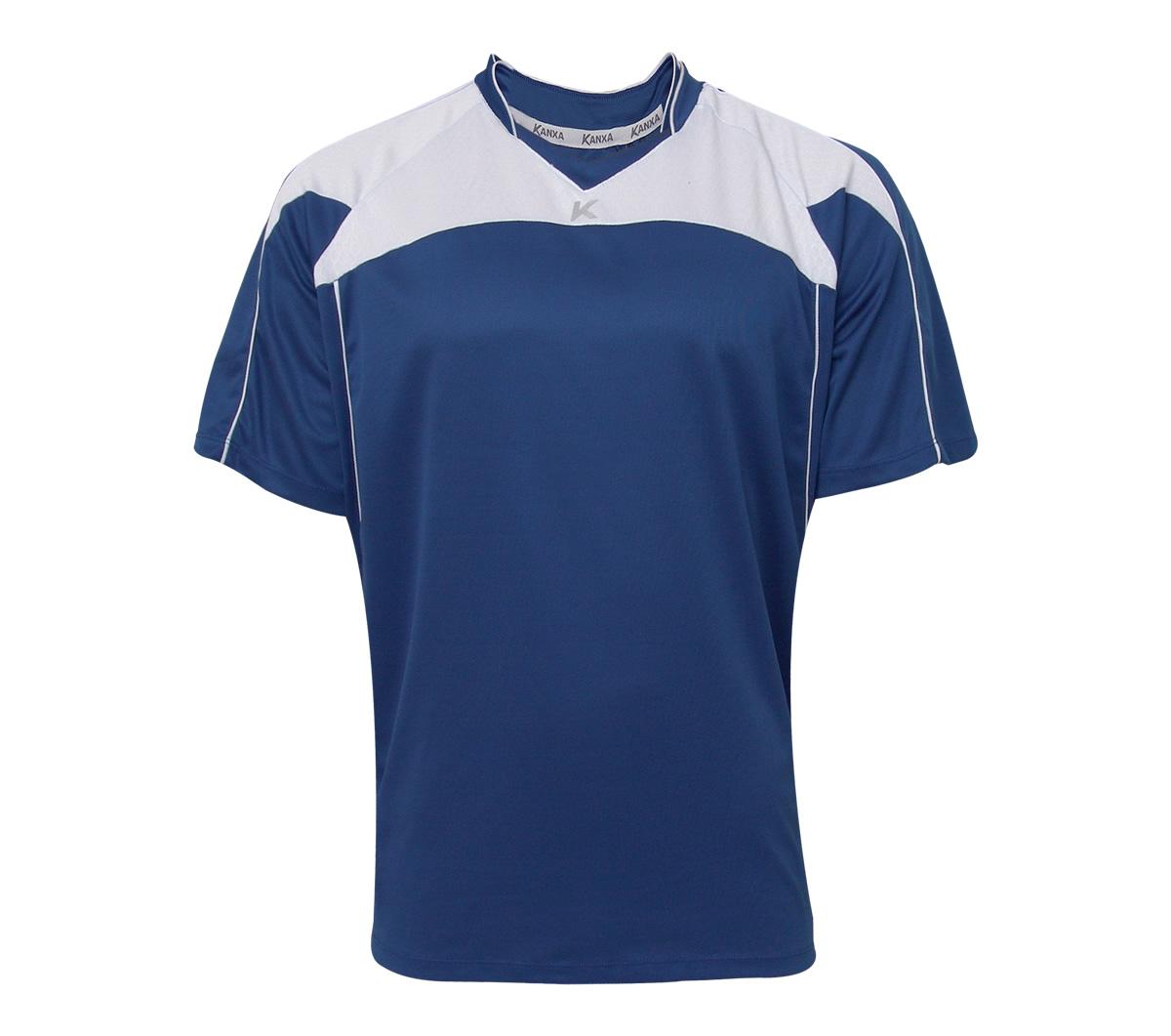 aafa1aa698272 Camisa Kanxa Trento Azul e Branca Camisa Kanxa Trento Azul e Branca ...