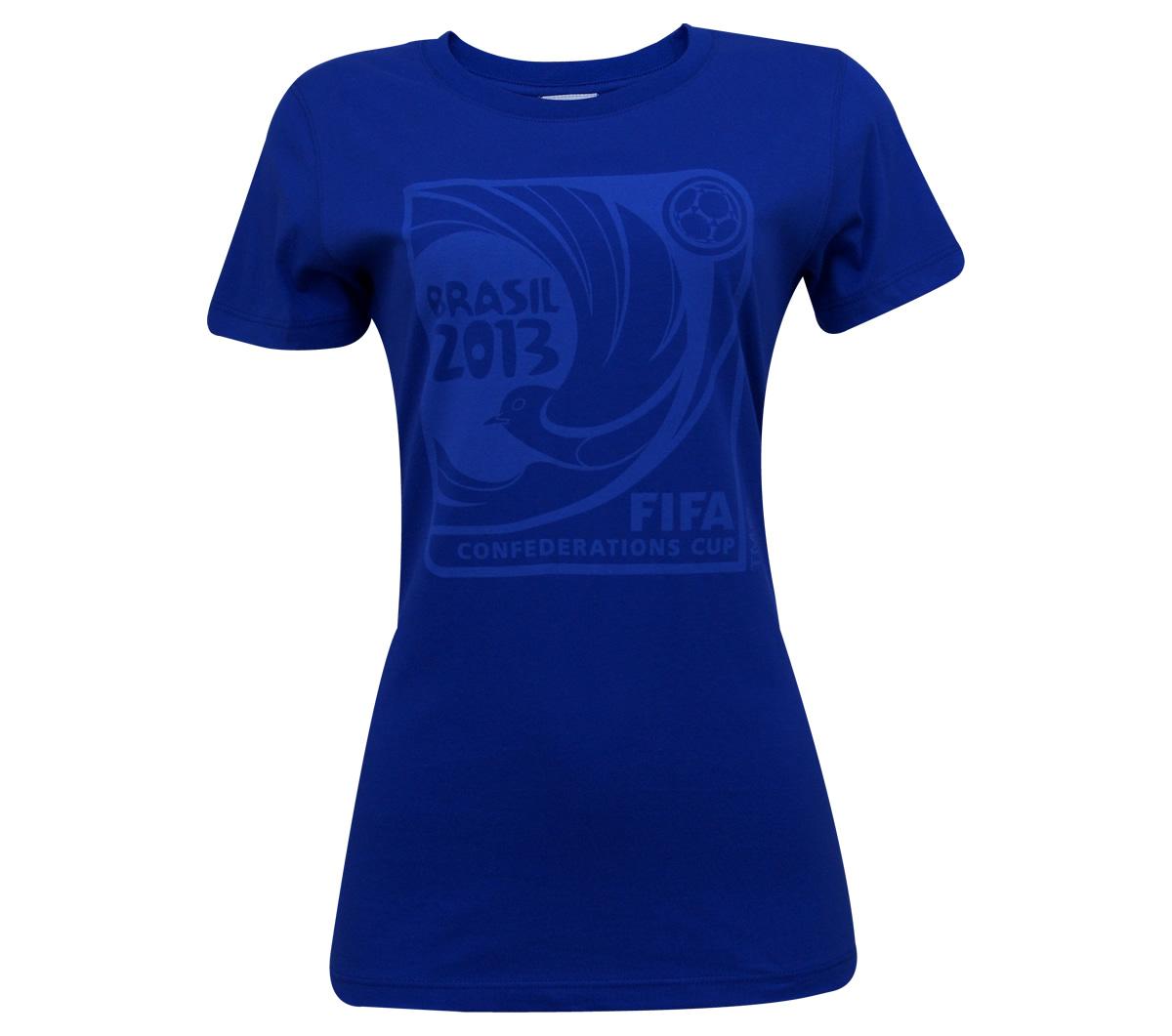 Camisa Copa das Confederações Off Feminina Azul