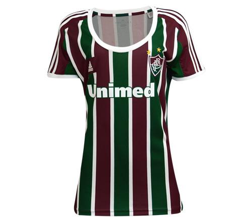 cbb5eedfb1 Camisa Fluminense I Adidas Feminina Oficial 13 14 - Mundo do Futebol