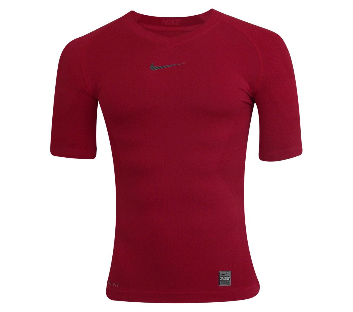 Camisa Nike Pro Core Hypercool Manga Curta Vermelha - Mundo do Futebol 31f9326f370e7