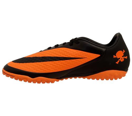 Chuteira Nike Hypervenom Phelon Society Laranja e Preta - Mundo do ... 8cfd73f4f4784