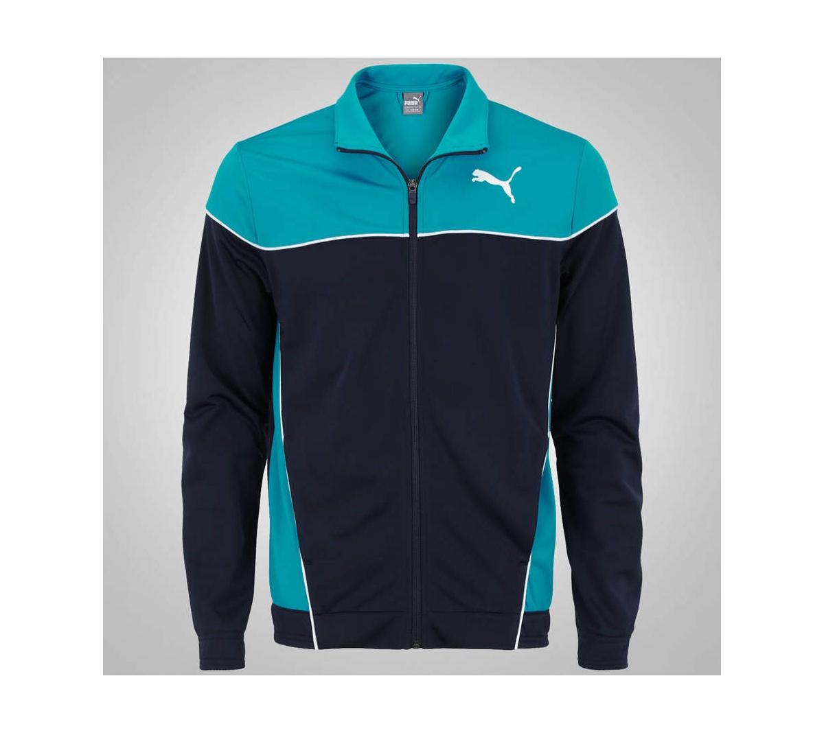 Agasalho Puma Blocked  Suit Azul Marinho