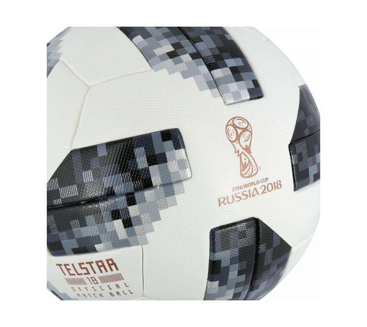 Bola de Futebol de Campo Telstar Oficial Copa do Mundo FIFA 2018 adidas OMB