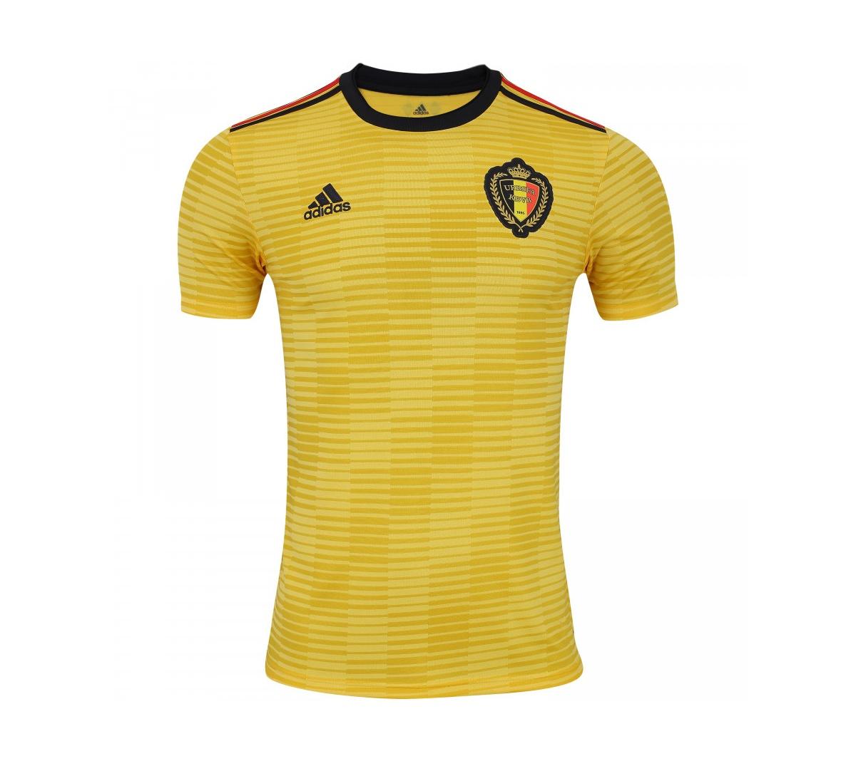 Camisa Adidas Bélgica II 2018 Torcedor Adulto Oficial