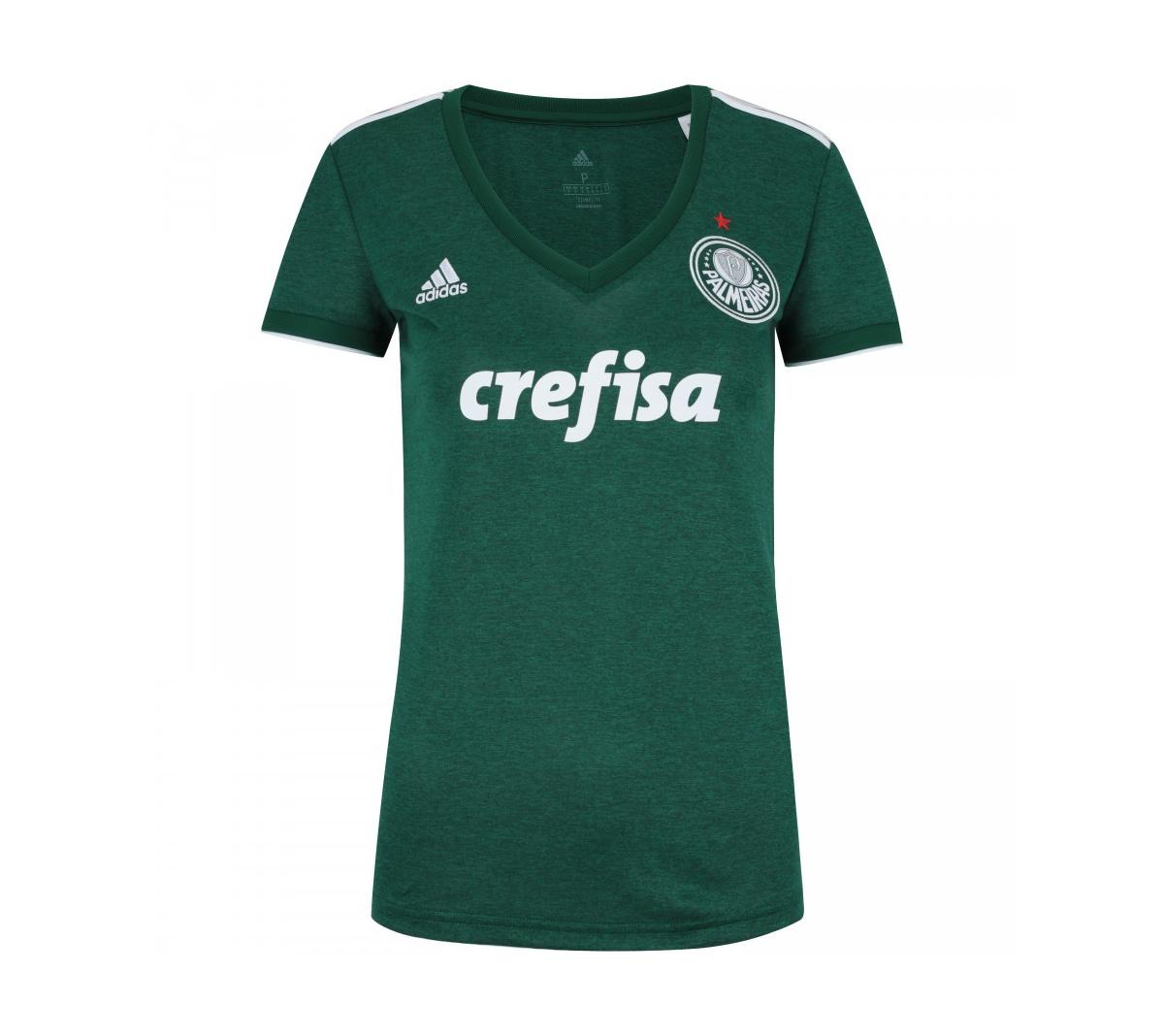 5e1b380762903 Camisa Adidas Palmeiras I 2018 Feminina Camisa Adidas Palmeiras I 2018  Feminina ...