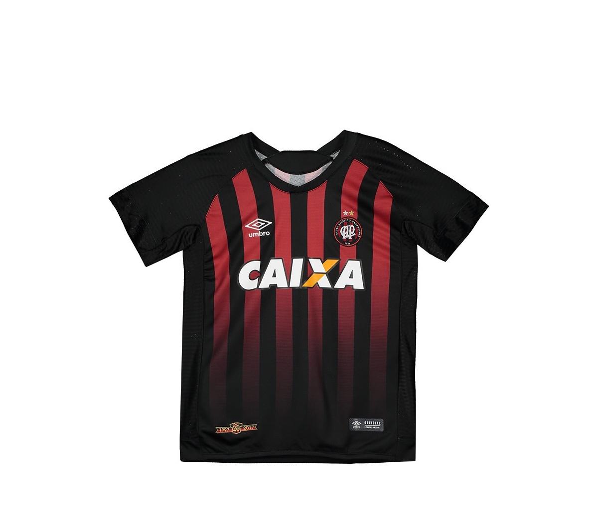 Camisa Atlético Paranaense I Umbro Juvenil 17/18
