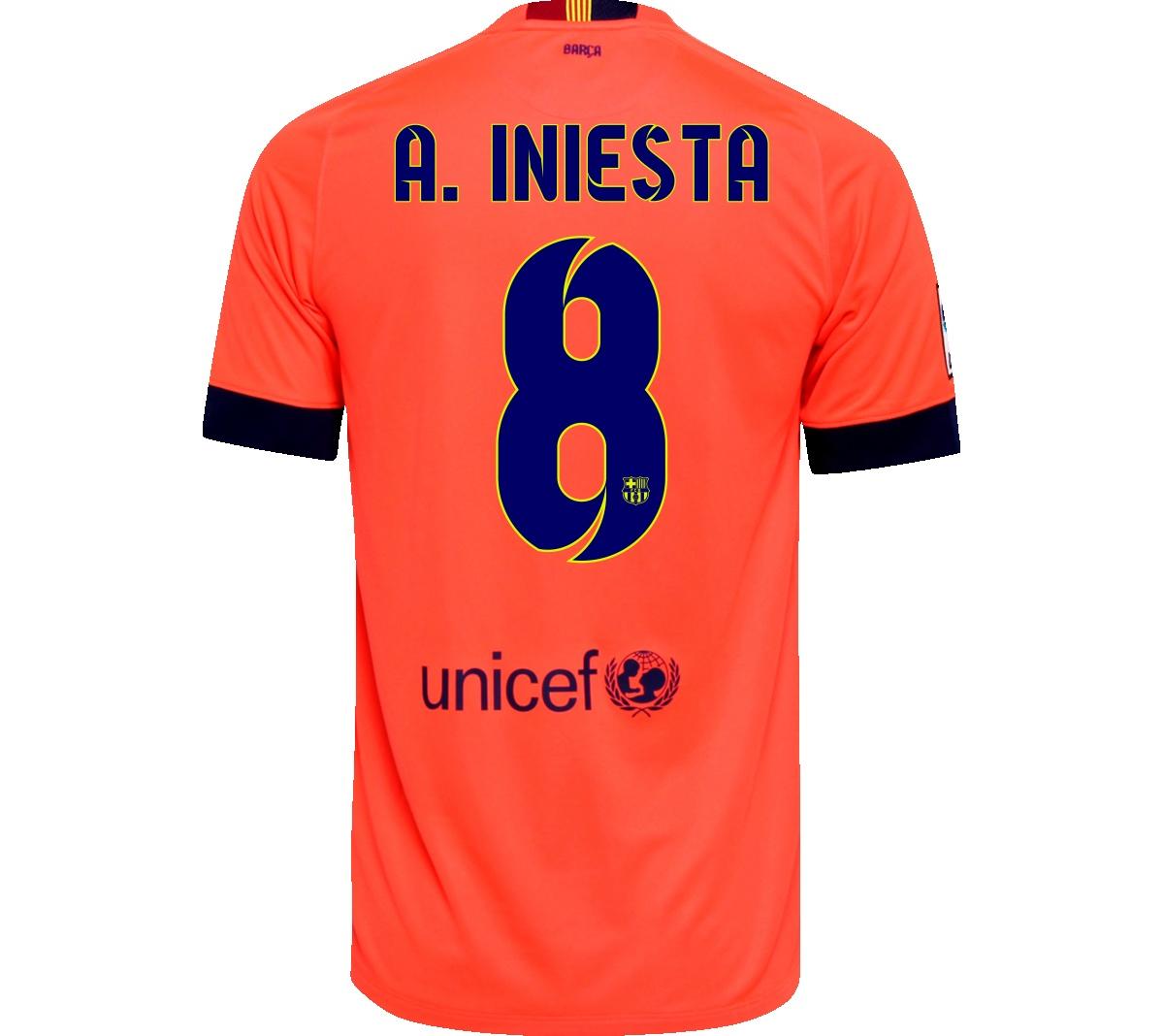 Camisa Barcelona II A. Iniesta