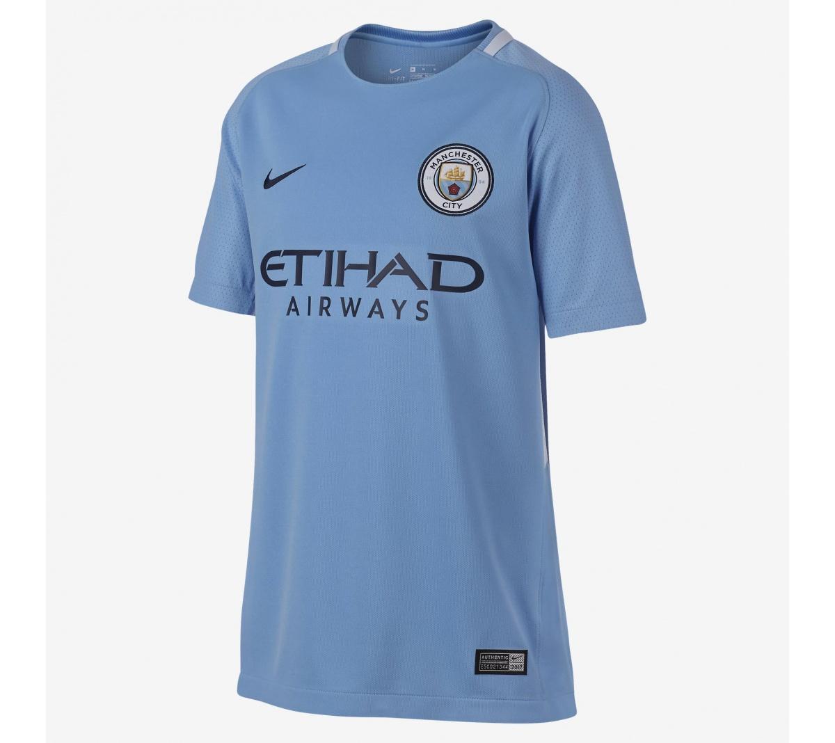 Camisa Manchester City I Nike 2017/18 Infantil
