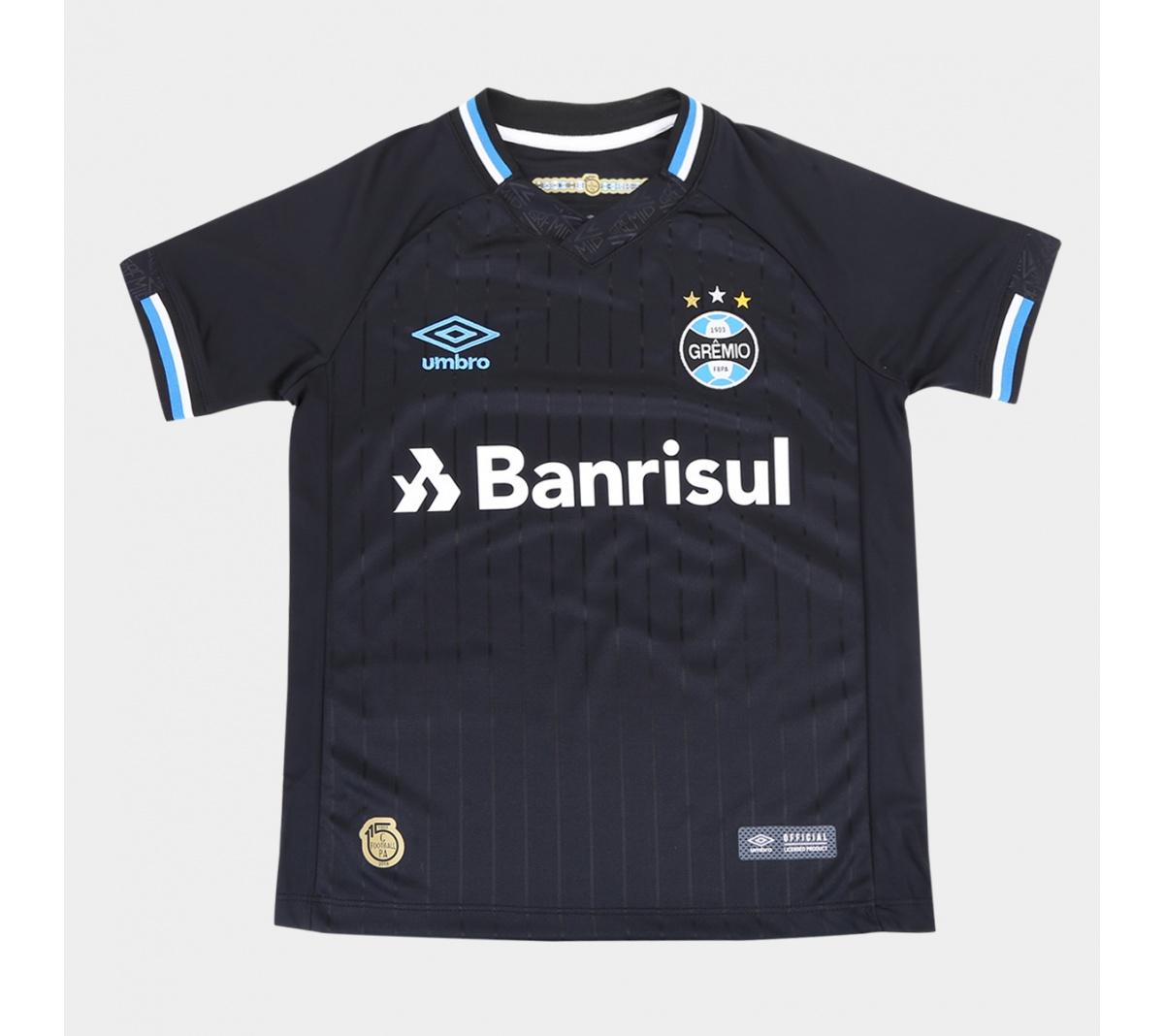 Camisa Umbro Gremio III 2018 Infantil Camisa Umbro Gremio III 2018 Infantil  ... 12383c627a09c