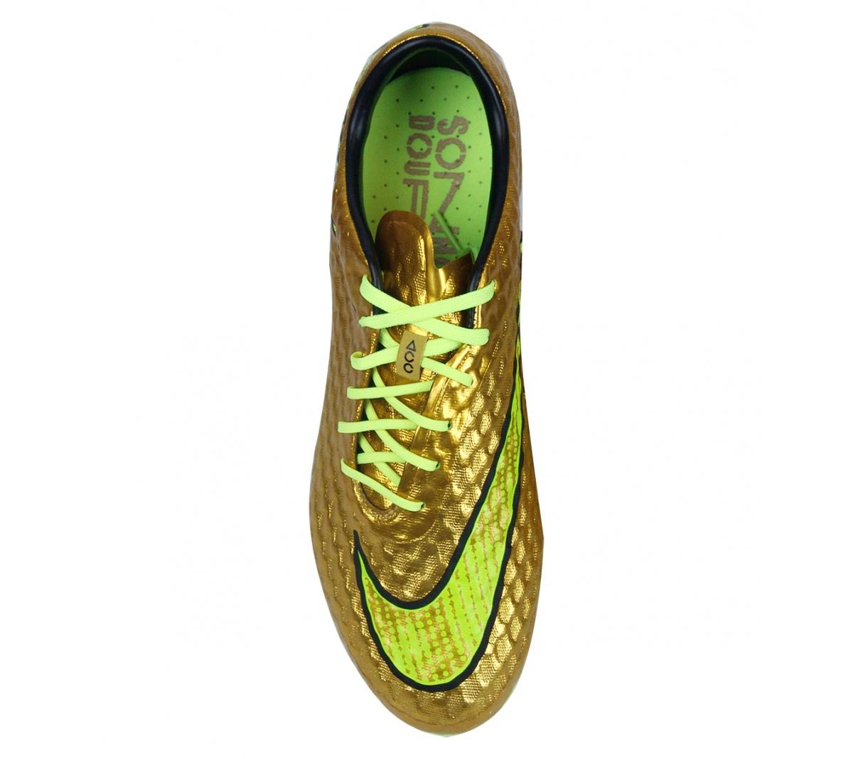 Chuteira Nike Hypervenom Phantom Dourada Campo - Mundo do Futebol 19abca8a134f7