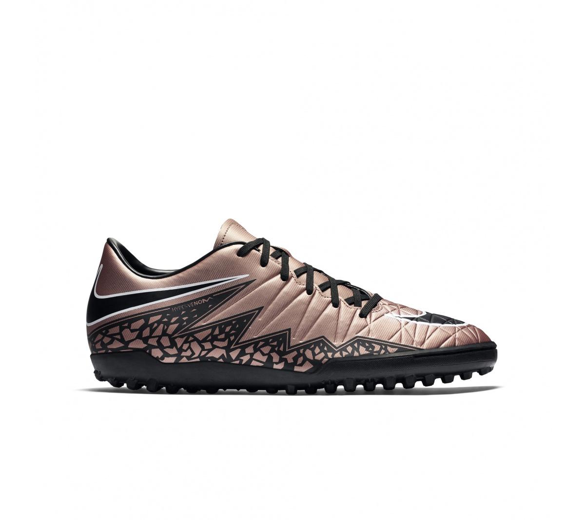 06f2eefd6f ... Chuteira Nike Hypervenom Phelon II TF Dourado com Preto e Branco ...