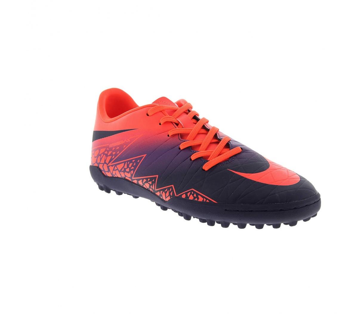9220500e7a973 Chuteira Nike Hypervenom Phelon II TF Roxo com Laranja - Mundo do ...