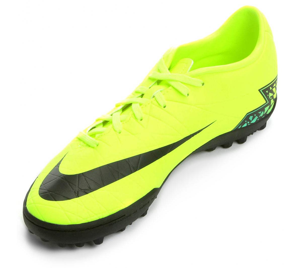 Chuteira Nike Hypervenom Phelon II TF Verde Limão com Preto