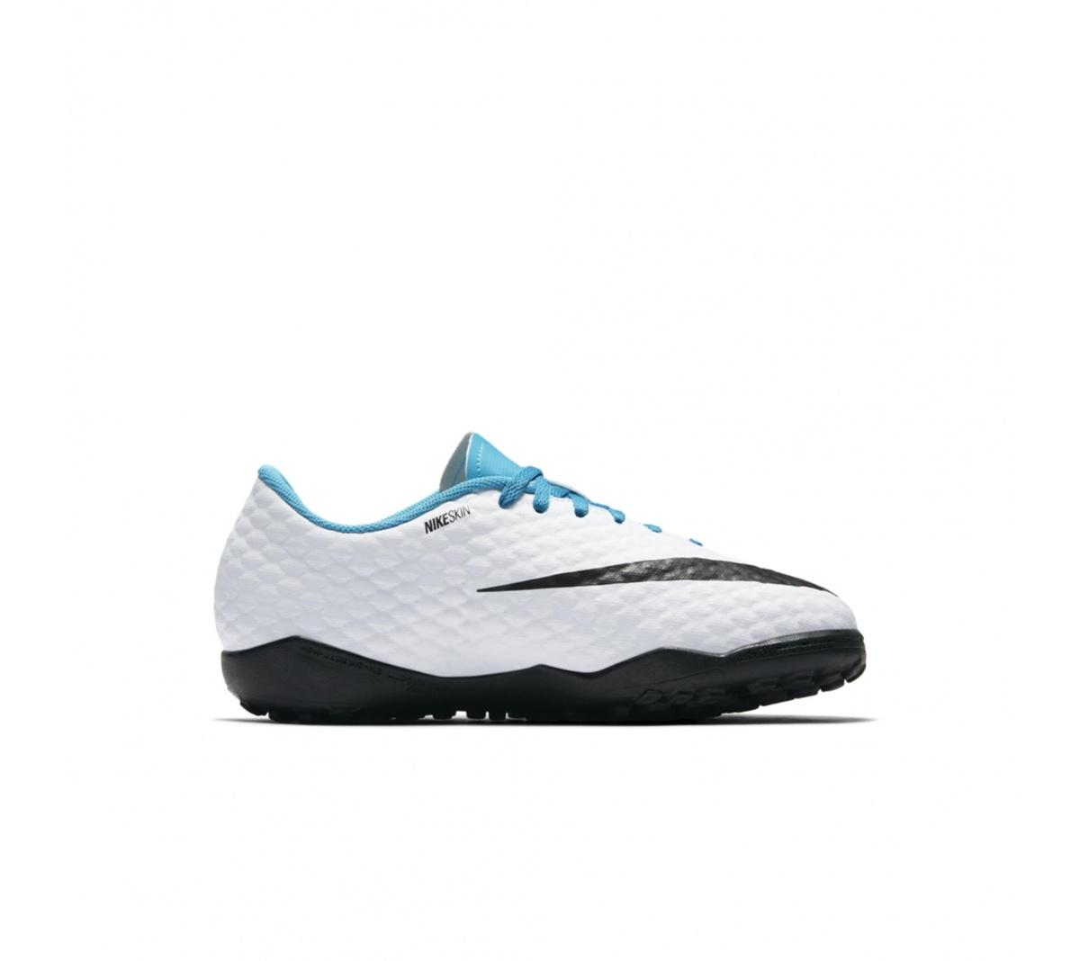 Chuteira Nike HypervenomX Phelon III TF Infantil Azul e Branco ... 4078d3736d8f1