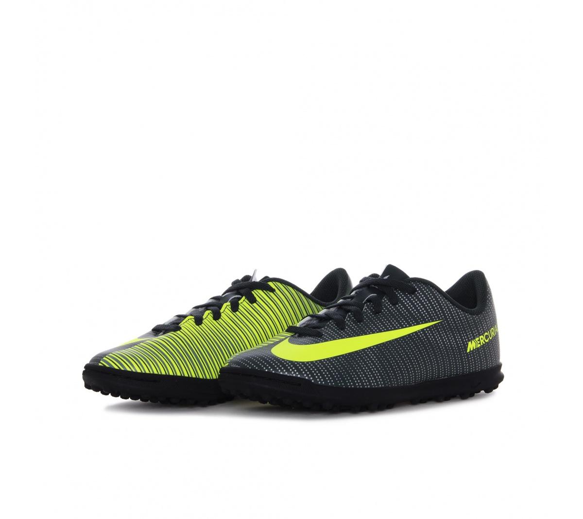 ... Society Nike Bravata 768917-011 Preto Branco  83a9ad52a0a Chuteira Nike  Mercurial Vortex chuteira nike mercurial vortex cr7 tf infantil mundo do ... 7f8b606678c6f