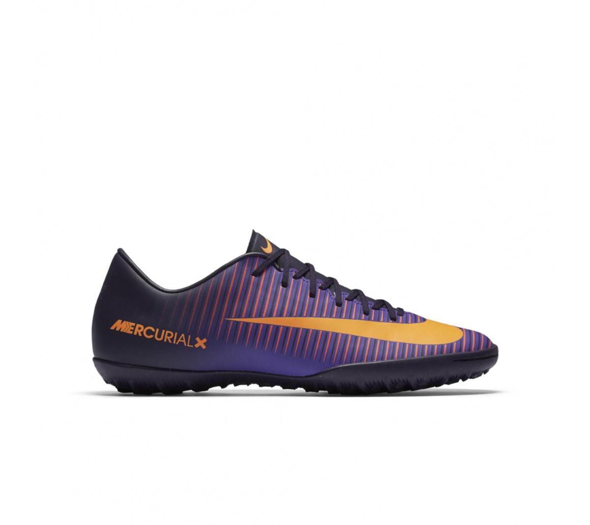 Chuteira Nike Mercurial Victory VI Society Roxo com Laranja