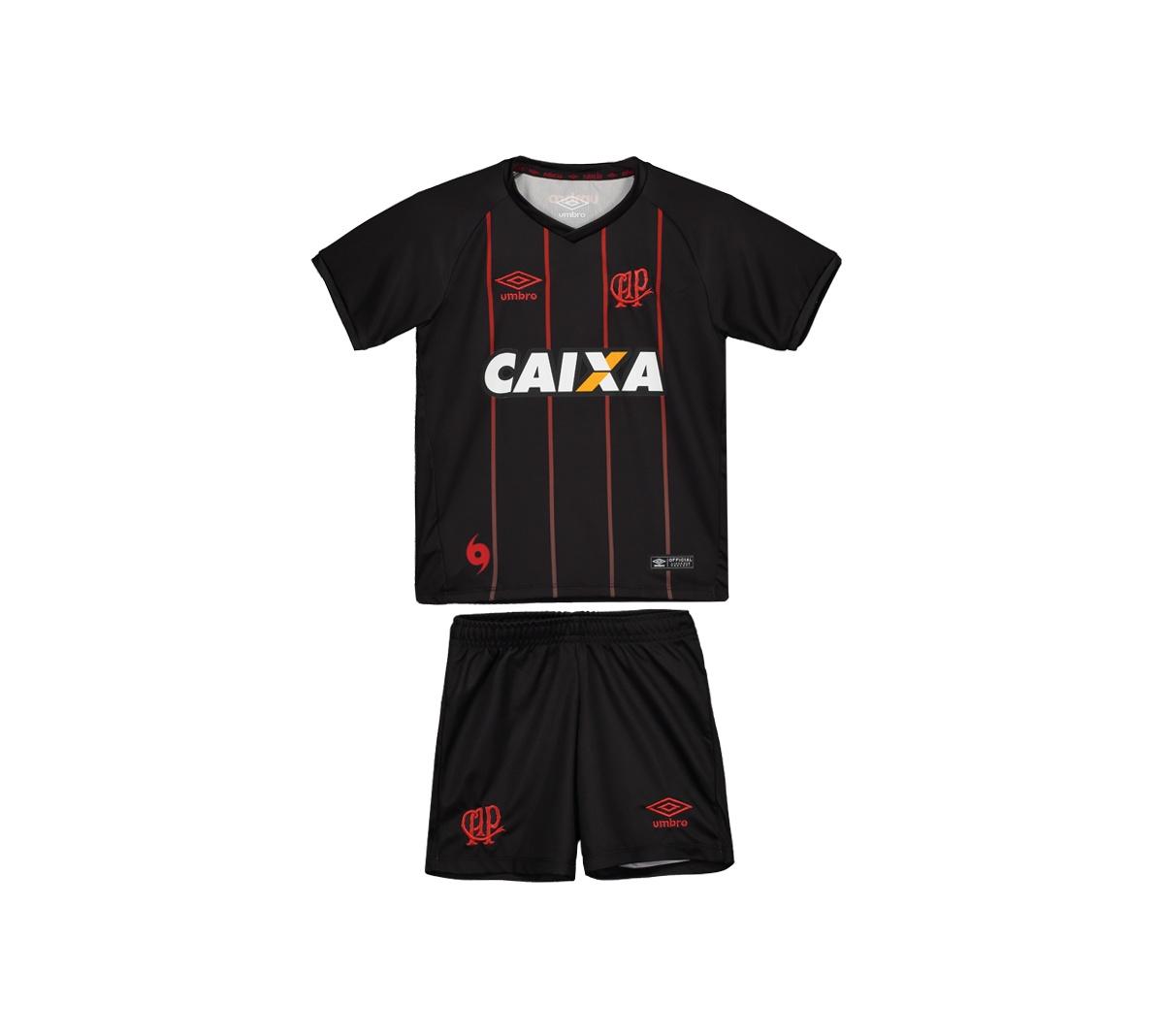 Kit Atlético Paranaense Umbro III 2017 Infantil