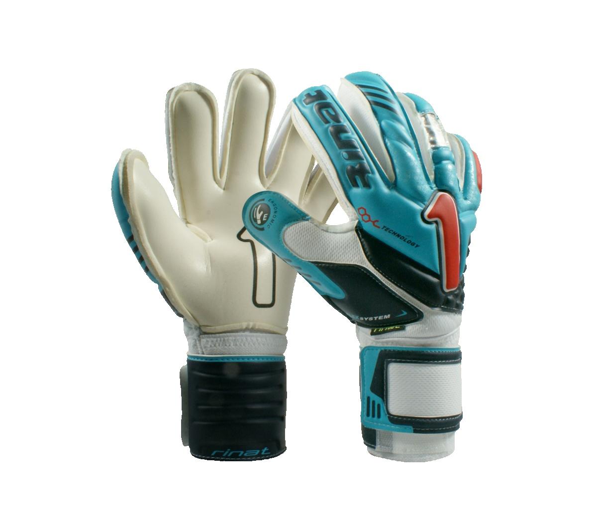 Luva Rinat Arkano Pro Azul Turqueza com Branco - Mundo do Futebol 176650eae75a6