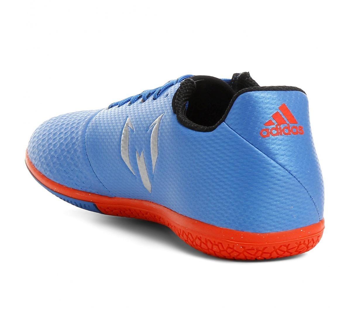 Tênis Adidas Messi 16.3 Futsal Infantil Az - Mundo do Futebol a441aac7a9430