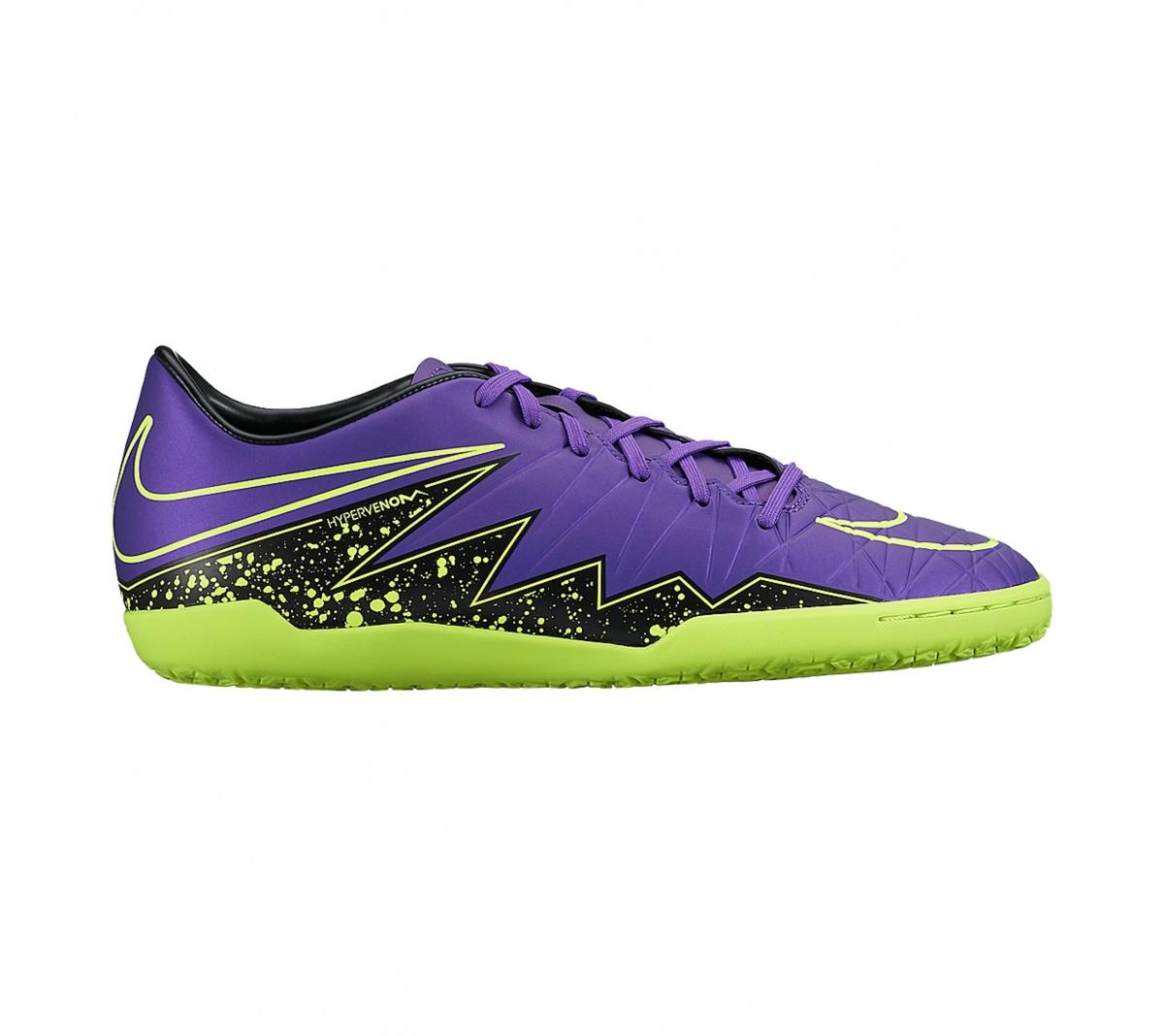 Tênis Nike Hypervenom Phelon II IC Roxo com Verde