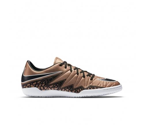 Tênis Nike Hypervenom Phelon II IC Dourado com Preto e Branco