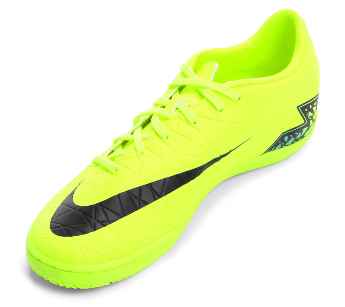 Tênis Nike Hypervenom Phelon II IC Verde Limão com  Preto