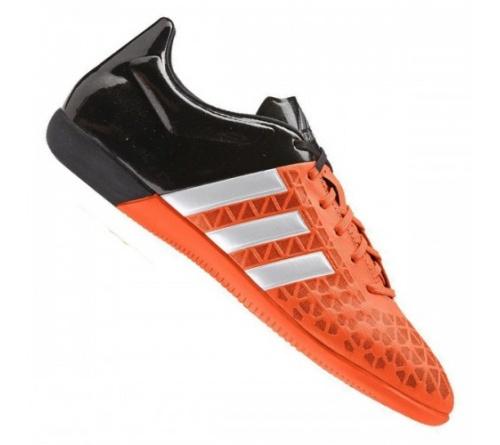 7adbdd3b16 Tenis Adidas Ace 15.3 Futsal Laranja e Preto - Mundo do Futebol